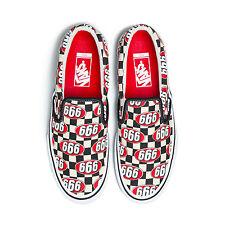 Supreme x Vans 666 Logo Slip-On Shoes SOLD OUT Rare Checker Box Logo   Size 9.5