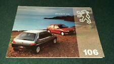 Peugeot 106 Sales Brochure September 1991 #