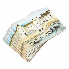 Set of 6 Luxury Placemats Table Place Settings Mats Nautical Cornish Harbour