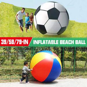 Inflatable Beach Ball Summer Pool Parties Inflator Balloon Outdoor Beach