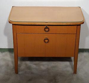 mid century design 60s Kleinmöbel Kirschholz Nachtschränkchen Kommode 60er