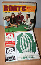 Vintage 1978 Roots Family Word Game 3 Games in One Basic, Rummy, Solitaire