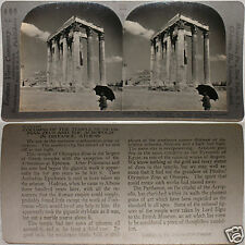 Keystone Stereoview of The Temple of Zeus, Athens, GREECE From 600/1200 Card Set