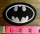 Batman Embroidered Felt Patch - Black/Silver/White DC Comics Chest Logo Iron On