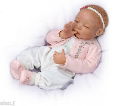 Ashton Drake Sweet Dreams Little Ava Newborn Baby doll  hand-applied hair