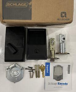 Schlage Encode Smart Wi-Fi Door Lock with Alarm, BE489WB - Black