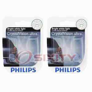 2 pc Philips License Plate Light Bulbs for Saturn Astra L100 L200 L300 LS rp