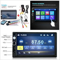 7'' 12V 7010B Car Radio Stereo Bluetooth MP5 HD Player Handsfree Remote Control