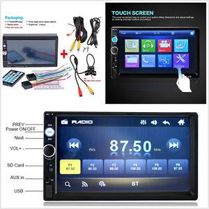 "7"" 12V 7010B Car Radio Stereo Bluetooth MP5 HD Player Handsfree Remote Control"