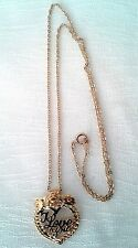 Necklace Pendant Gold Plated Love/Heart No Stone 18 in Gold Plated Chain New WOT