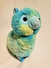 Inter-American Products Llama Plush Stuffed Animal Blue Green Yellow Tie Dye