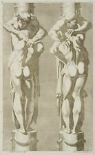 G.GIOVANNINI (*1667) nach CARRACCI (*1555), Architekturentwurf für Atlanten , um