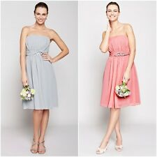 b6757091ed12 Bhs Daisy Short Bridesmaid Dress Grey/Silver Size 12 18 22 Rose 12 14 22