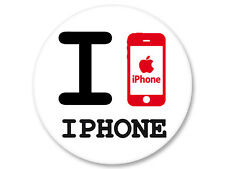 Magnet Aimant Frigo Ø38mm I Love You j'aime Iphone Apple