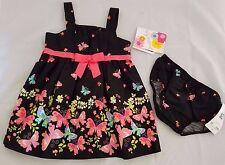 JESSICA ANN siz 12 Mo. Black Dress Pink Pastel Butterflies Flowers NEW