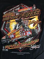 """NHRA DRAG RACING """"BRITTANY FORCE""""  TOP FUEL CHAMP  T- SHIRT  SIZE SMALL"""