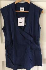 Mamalicious TESS Jersey Wrap Top- Twilight Blue XL (BNWT)