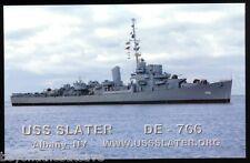 USS Slater DE-766  postcard US Navy warship destroyer escort