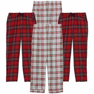 M&S Mens Flannel Pyjama Trousers Check Brushed Cotton Bottoms PJ's Lounge Pants
