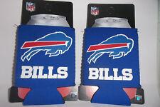 NEW Buffalo Bills 2 CT lot NFL CAN HOLDER BEER SODA CUP Bottle COOLIE Koozie