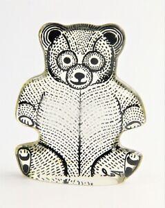 60s VINTAGE ABRAHAM PALATNIK BRAZIL MOD TEDDY BEAR LUCITE SCULPTURE