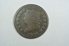 1814 Plain 4 Classic Head Large Cent - VG Condition - C278