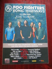 Foo Fighters - 2015 Australian Tour - Sonic Highways  SIGNED AUTOGRAPHED  Poster