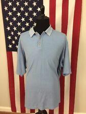 Tommy Bahama Silk Blend Polo Shirt men's 2XL xxl Light Blue Short Sleeve 7192
