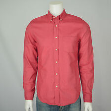 J CREW Oxford Slim Fit Cotton Casual Long Sleeve Shirt Sz M Red