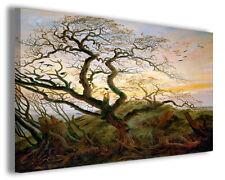 Quadri famosi Caspar David Friedrich XVIII stampe l'albero dei corvi copia
