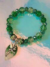 Fairy of the snow kissed forest ladies UNIQUE  Handmade beaded charm bracelet