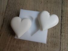 Silicone Rubber Mould ~ LOVE HEART ~ WAX SOAP PLASTER RESIN CRAFTS
