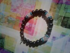 Rose Quartz Bracelet Black Freshwater Pearl