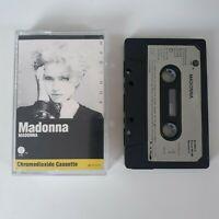 MADONNA S/T SELF TITLED FIRST ALBUM CASSETTE TAPE 1983 PAPER LABEL WARNER SIRE