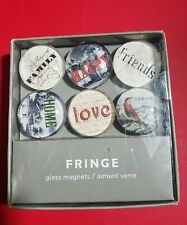 Fringe Domed Glass Magnets - Family, Friends, Love, Dream, Home, Happy - New