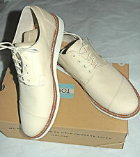 TOMS Men's Classic Brogue Natural Cotton Twill Size 13