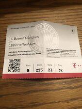 Sammler Ticket FC Bayern München - TSG 1899 Hoffenheim 2019/2020