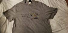 Mens quicksilver classic gray logo T-Shirt Size Large Tee Shirt