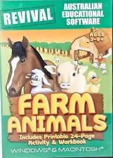 Farm Animals Windows Educational PC Game Age 3-8+ Read Flash Cards Word Search