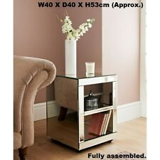 New Florence Side Table  glass mirror panels  Fully Assembled - Limited Stock