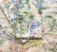 Vintage Springmaid 1 King Flat Sheet 2 King Pillowcases Meadow Pattern