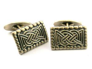 Vintage 830 silver oblong cufflinks by David Andersen of Norway SAGA series