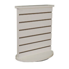 Slatwall Countertop Spinner Display in White 18W x12D x21-1/2H Inches