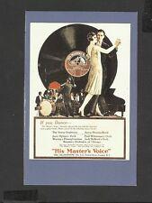 Nostalgia Postcard Advertisement for His Masters Voice 1926