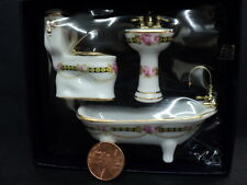 DOLLHOUSE 1:24 SCALE REUTTER PORCELAIN BATHROOM SET
