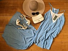 INCYDA Chloe Maxi Dress BNWT $149.95 RRP Cornflour Pastel Blue Size 12 M Boho
