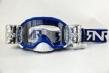 RIP N ROLL PLATINUM blu ampia visibilità Sistema OCCHIALI MOTOCROSS WVS MX RnR