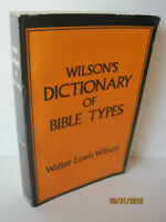 Wilson's Dictionary of Bible Types