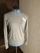 Old Navy Long Sleeve Grey Thin Sweater Medium Dragon Fly Design
