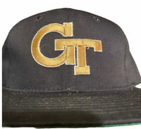 Vintage 90s Starter Georgia Tech Yellow Jackets Arch Ncaa Snapback Hat Cap